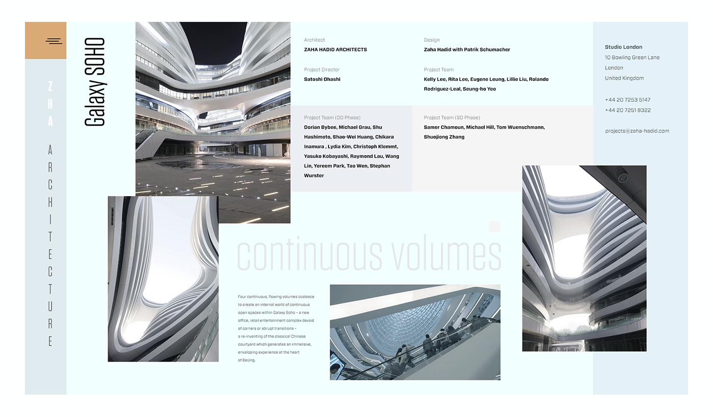 Zaha Hadid Architects Portfolio Element 2