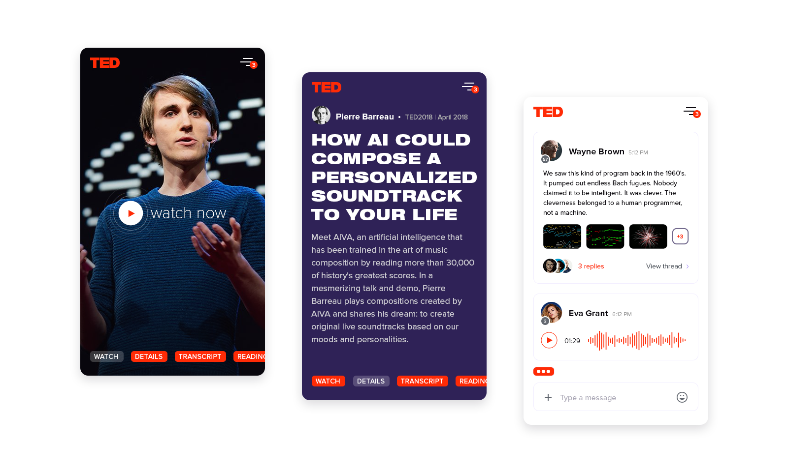 TED Talks mobile version